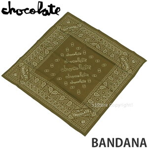 チョコレート バンダナ 【CHOCOLATE BANDANA】 ハンカチ アクセサリー スケートボード スケボー ストリート SKATEBOARD カラー:MILITARY サイズ:OS