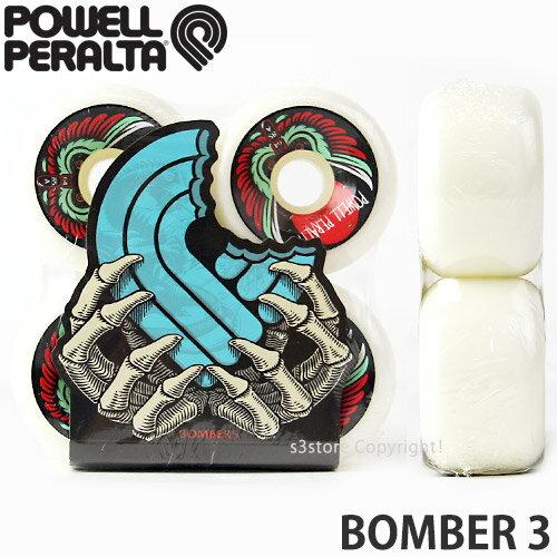 パウエル ペラルタ ボンバー 3 【Powell Peralta BOMBER 3】 スケートボード スケボ クルーザー オールドスクール ソフト ウィール SKATEBOARD WHEEL カラー:White