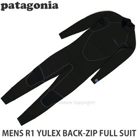 【送料無料】 パタゴニア メンズ ユーレックス バッグジップ フルスーツ 【Patagonia MENS R1 YULEX BACK-ZIP FULL SUIT】 ウェットスーツ サーフィン SURF WET 高機能 カラー:Black