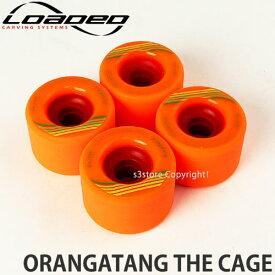 [対象] LOADED ORANGATANG The Cage【ローデッド オランタン ザ ケージ】スケートボード フリーライドウィール ダウンヒルスロープスタイルカラー:Orange サイズ:73mm/80a