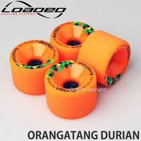 [対象] ローデッド オランガタン ドリアン 【LOADED ORANGATANG DURIAN】 スケートボード SKATEBOARD ソフト ウィール パーツ WHEEL サーフ クルージング カラー:Orange サイズ:75mm/80A
