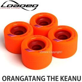 [対象] ローデッド オランガタン ケアヌ 【LOADED ORANGATANG KEANU】 スケートボード SKATEBOARD ソフト ウィール パーツ WHEEL フリーライド ロング サーフ カラー:Orange サイズ:66mm/80A