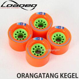 [対象] ローデッド オランガタン ケーゲル 【LOADED ORANGATANG KEGEL】 スケートボード SKATEBOARD ソフト ウィール パーツ WHEEL スライド ハイスピード カラー:Orange サイズ:80mm/80A