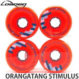 ローデッド オランガタン スティミュラス 【LOADED ORANGATANG STIMULUS】 スケートボード SKATEBOARD ソフト ウィール パーツ WHEEL オールラウンド ダウンヒル カービング カラー:Orange サイズ:70mm/80A