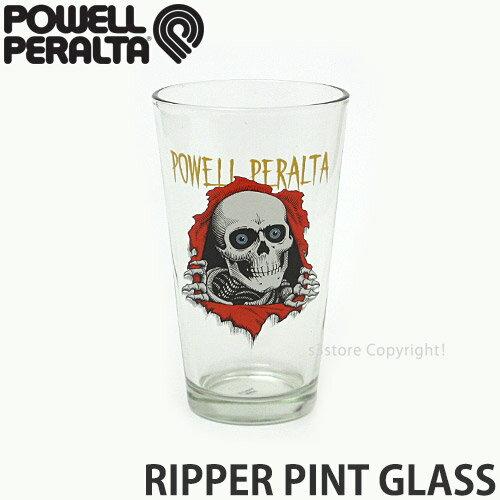 パウエル リッパー パイント グラス 【POWELL RIPPER PINT GLASS】 キッチン グッズ 小物 グラス コップ お酒 ドリンク インテリア 生活用品