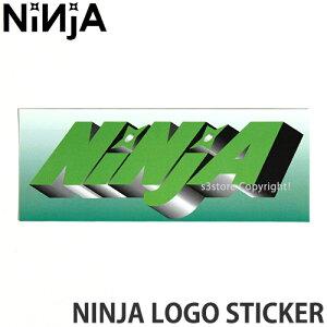 ニンジャ NINJA ロゴ ステッカー LOGO STICKER スケートボード デッキ チューン ブランド SKATEBOARD シール カラー:GREEN サイズ:12.8×5.0