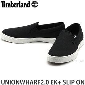 ティンバーランド Timberland ユニオンワーフ2.0 EKプラス スリップオン UNIONWHARF2.0 EK+ SLIP ON 靴 スリッポン タウンユース メンズ MENS カラー:BLACK TENCELXREFIBRA
