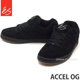 エス es アクセル オージー ACCEL OG スケートボード 靴 スニーカー スケシュー メンズ ストリート SKATEBOARD カラー:BLACK