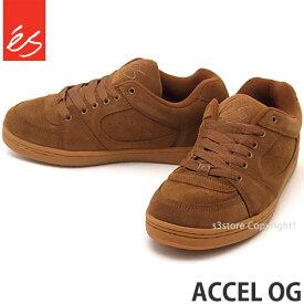 エス es アクセル オージー ACCEL OG スケートボード 靴 スニーカー スケシュー メンズ ストリート SKATEBOARD カラー:BROWN/GUM