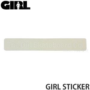 ガール GIRL ステッカー STICKER シール スケボー スケートボード ストリート ブランド カスタム デッキ スマホ カラー:White サイズ:10.2x1.5cm