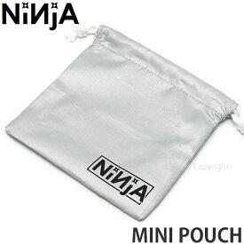 ニンジャ NINJA ミニ ポーチ MINI POUCH 巾着 小袋 小物入れ ツール収納 スケートボード スケボー ベアリング カラー:Silver