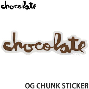 """チョコレート CHOCOLATE オージー チャンク ステッカー OG CHUNK STICKER スケートボード スケボー シール カスタム SKATEBOARD カラー:BROWN サイズ:5"""""""
