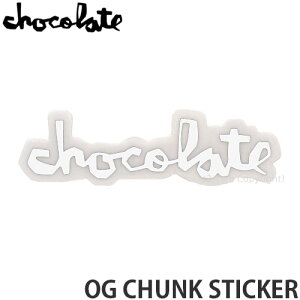 """チョコレート CHOCOLATE オージー チャンク ステッカー OG CHUNK STICKER スケートボード スケボー シール カスタム SKATEBOARD カラー:WHITE サイズ:3"""""""