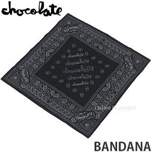 チョコレート CHOCOLATE バンダナ BANDANA ハンカチ アクセサリー スケートボード スケボー ストリート SKATEBOARD カラー:BLACK サイズ:OS
