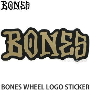 ボーンズ BONES ロゴ ステッカー LOGO STICKER スケートボード スケボー シール カスタム デッキ ヘルメット カラー:Black/Gold