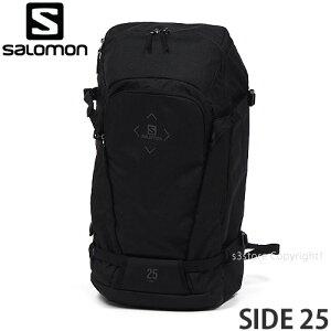 サロモン SALOMON サイド 25 SIDE 25 バッグ リュック スノー スキー スノボ バックカントリー 登山 カラー:BLACK サイズ:25L