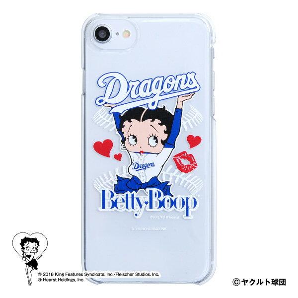 中日ドラゴンズ公認グッズBETTY BOOP™×ドラゴンズ iPhoneクリアケース dragons/ベティー ブープ™/かわいい