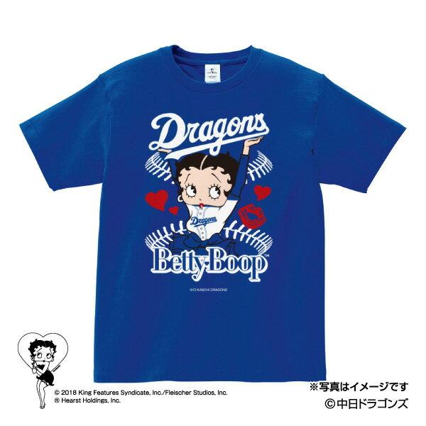中日ドラゴンズ公認グッズBETTY BOOP™×ドラゴンズ Tシャツ dragons/ベティー ブープ™/かわいい