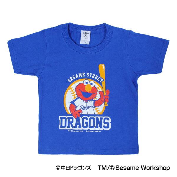 中日ドラゴンズ公認グッズSESAME STREET×ドラゴンズ Tシャツ(ELMO)(子供用) Dragons/セサミストリート/エルモ/かわいい