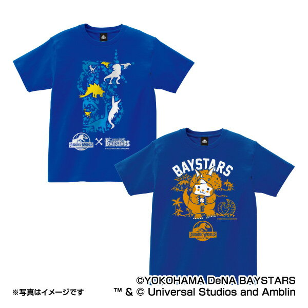 横浜DeNAベイスターズ公認グッズJURASSIC WORLD×ベイスターズ Tシャツ(子供用) baystars/ジュラシック・ワールド/恐竜/おすすめ