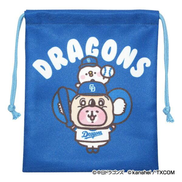 中日ドラゴンズ公認グッズカナヘイの小動物 ピスケ&うさぎ×ドラゴンズ 巾着 dragons/piske&usagi/かわいい