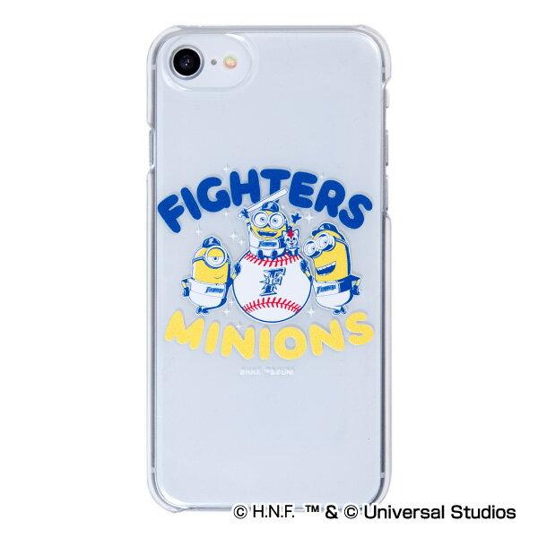 北海道日本ハムファイターズ公認グッズミニオン×ファイターズ iPhoneクリアケース 2018 fighters/MINIONS/かわいい