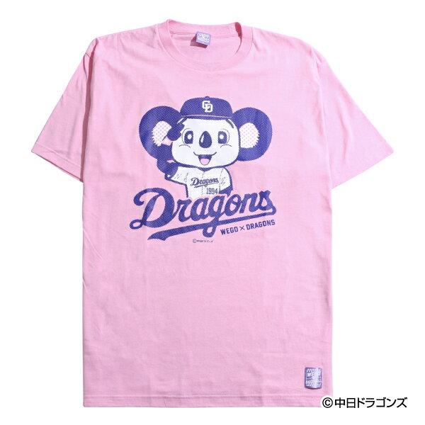 中日ドラゴンズ公認グッズWEGO×ドラゴンズ ビッグシルエットTシャツ 中日/ドラゴンズ/DRAGONS/かわいい