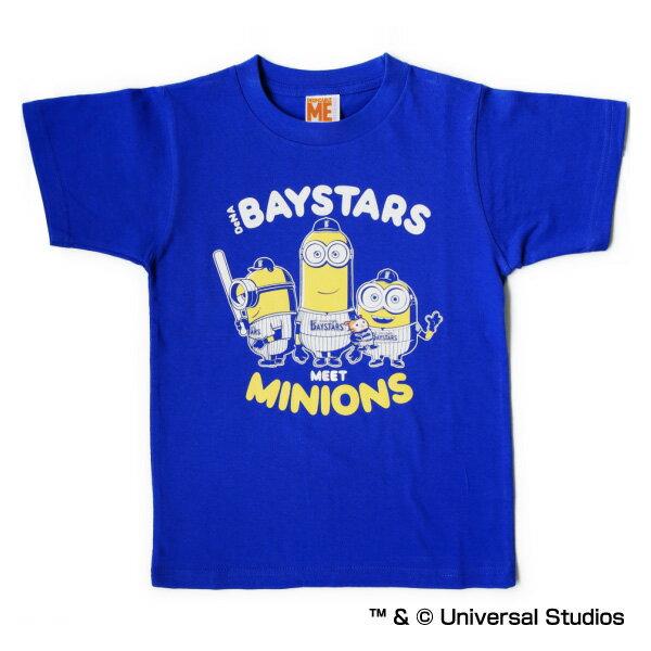 横浜DeNAベイスターズ公認グッズミニオン×ベイスターズ Tシャツ(子供用) /横浜DeNA/ベイスターズ/Baystars/MINIONS/かわいい