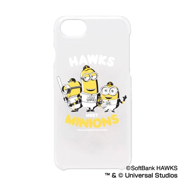 福岡ソフトバンクホークス公認グッズミニオン×ホークス iPhone6/6s/7/8 クリアケース/hawks/MINIONS/かわいい