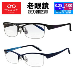 老眼鏡 鯖江ワークス アイクラウド かっこいい老眼鏡 スクエア 格好いい おしゃれ 男性用 メンズ シニアグラス 左右違い 度数調整 ブルーライトカット 選べる 度数 0.25 0.5 0.75 1.0 1.25 1.5 1.75 2.