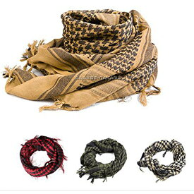 Broptical 【OP】アフガンストール 赤 OD アイボリー TAN 全4種類 サバゲー 装備 冬 レディース ネックスカーフ カモフラージュ ネット フェイスマスク