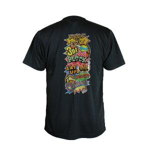 バスケ Tシャツ ジュニア 「COMIC BOOK」 黒 半袖 練習着 (ノースアイランド) NORTHISLAND