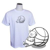 バスケットボールTシャツメンズ「ちょっと休憩・・・」(ノースアイランド)NORTHISLAND半袖練習着