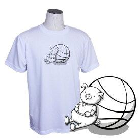 バスケ Tシャツ メンズ 「ちょっと休憩・・・」 半袖 練習着 (ノースアイランド) NORTHISLAND