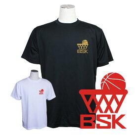 バスケ ウェア メンズ Tシャツ 「BSK」 左胸ワンポイントマーク 半袖 練習着 (ノースアイランド) NORTHISLAND