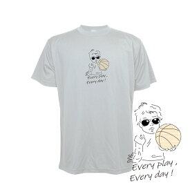 バスケ Tシャツ メンズ 「バスケットボールベイビー」 半袖 練習着 (ノースアイランド) NORTHISLAND