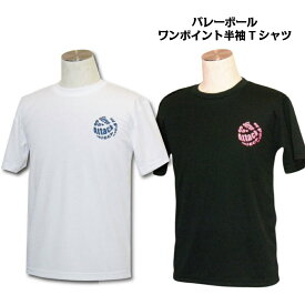 バレーボール 練習着 半袖 Tシャツ 「オールプレー」 13色から選べるワンポイントマーク