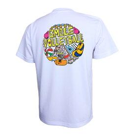 バレーボール 練習着 半袖 メンズ Tシャツ 「SMILE VOLLEYBALL」 (ノースアイランド) NORTHISLAND