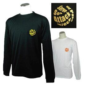 バレーボール 練習着 長袖 Tシャツ 「オールプレー」 左胸ワンポイントマーク (ノースアイランド) NORTHISLAND