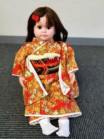 桃色花子 人形の着物一式 介護 音声認識人形 介護用人形 ももいろはなこ着物と帯のセット。足袋つき桃色花子は別売りです。着物のみの価格です。