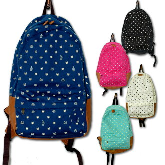 Anello handwritten cat pattern backpack vertical 40 x next to 25 × thickness 15 cm shipping separately takes Okinawa Hokkaido
