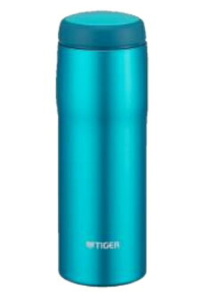 480 ml of blight blue MJA-B048AB made in Tiger Corp. stainless steel bottle Japan
