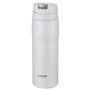 タイガー魔法瓶日本製保温・保冷ワンプッシュオープンステンレスボトル容量0.48リットルマットホワイトMJE-A048WM