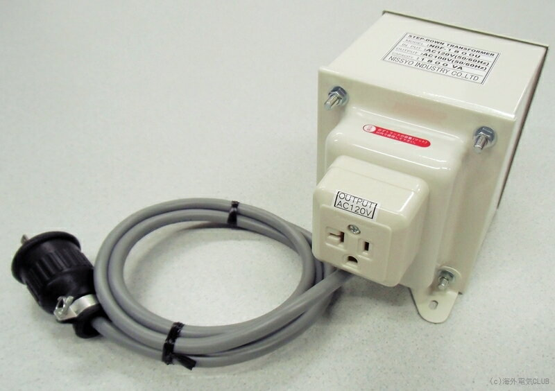 【変圧器】【海外用】 日章工業 ダウントランス 定格容量1800W 変換電圧110V/120V/127V→100V NDF-1800U
