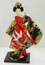 お土産品 12インチ日本人形『鶴刺繍』(品番 RC1013)