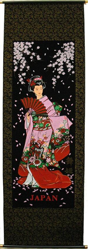 """【日本のおみやげ】掛け軸「舞姫」(大サイズ)JapanesesouvenirTapestry""""Maihime""""(Largesize)"""