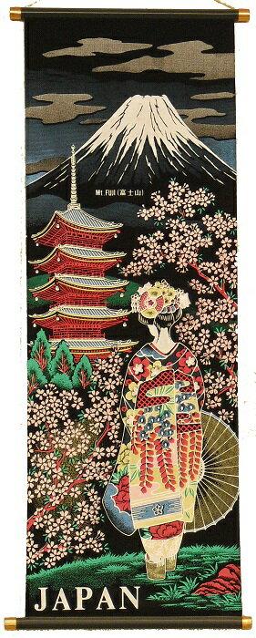 【日本のお土産】 掛け軸 中サイズ(高さ約84cm) 桜舞妓