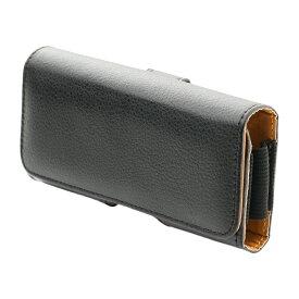 ミヨシ 携帯電話用アクセサリー ベルトフック付きガラケーケース シボ調 SAC-GC02/BK