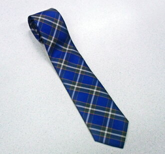 Kobe tartan design dyeing silk tie