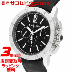 955d78cccf ... 年保証] ブルガリ BVLGARI 腕時計 ウォッチ ブルガリブルガリ ブラック文字盤 自動巻 アリゲーター革ベルト クロノグラフ デイト  BB41BSLDCH メンズ [並行輸入品]